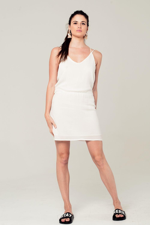 aac81d265961 Mini abito bianco con dettagli all uncinetto posteriore enlarge